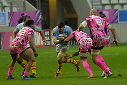 January 5, 2019 - Paris, France - Perpignan Hooker RAPHAEL CARBOU in action during the French rugby championship Top 14 match between Stade Francais and  Perpignan at Jean Bouin Stadium in Paris - France..Stade Franais won 27-8 (Credit Image: © Pierre Stevenin/ZUMA Wire)
