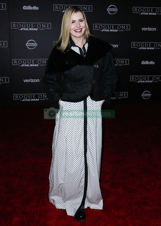 World Premiere Of Walt Disney Pictures And Lucasfilm's 'Rogue One: A Star Wars Story' at the Pantages Theatre on December 10, 2016 in Hollywood, California. 10 Dec 2016 Pictured: Geena Davis. Photo credit: Image Press/MEGA TheMegaAgency.com +1 888 505 6342
