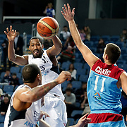 Efes Pilsen's Bootsy THORNTON (C) during their Turkish Basketball league match Efes Pilsen between MP Trabzonspor at the Sinan Erdem Arena in Istanbul Turkey on Friday 11 March 2011. Photo by TURKPIX