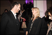 RUPERT EVERETT; CARINA COOPER, Private view for A Strong Sweet Smell of Incense<br /> A Portrait of Robert Fraser, Curated by Brian Clarke. Pace Gallery. 6 Burlington Gardens. London. 5 February 2015.