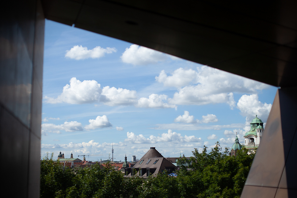 View out of the 4th floor of the The Sudeten German Museum in Munich.