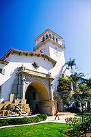 Santa Barbara County Courthouse, Santa Barbara, California USA