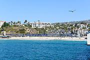 The Pacific Surfliner Passenger Train Arriving at San Clemente