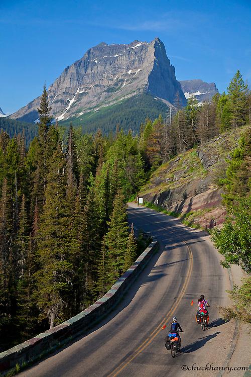Bicycle Touring through Glacier National Park, Montana, USA