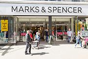 Marks and Spencer shop store entrance in Regent Street, Brunel Centre,  Swindon, Wiltshire, England, UK