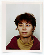 ID photo of a woman 1980s