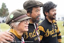 Team 80's Ayu, Shinya and Niimi on the Motorcycle Cannonball coast to coast vintage run. Stage 13 (254 miles) Kalispell, MT to Spokane, WA. Friday September 21, 2018. Photography ©2018 Michael Lichter.