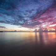Sunrise at Kandui Resort, Mentawais Islands, Indonesia March  21, 2013.