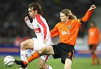 v.l. Christian Tiffert, Anatoliy Tymoshchuk Donezk<br /> UEFA-Cup VfB Stuttgart - FC Schachtjor Donezk<br />  Norway only