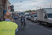 Trafikkaos efter att man stängt Katarinavägen och samt östra bron på Slussen i projekt Nya Slussen