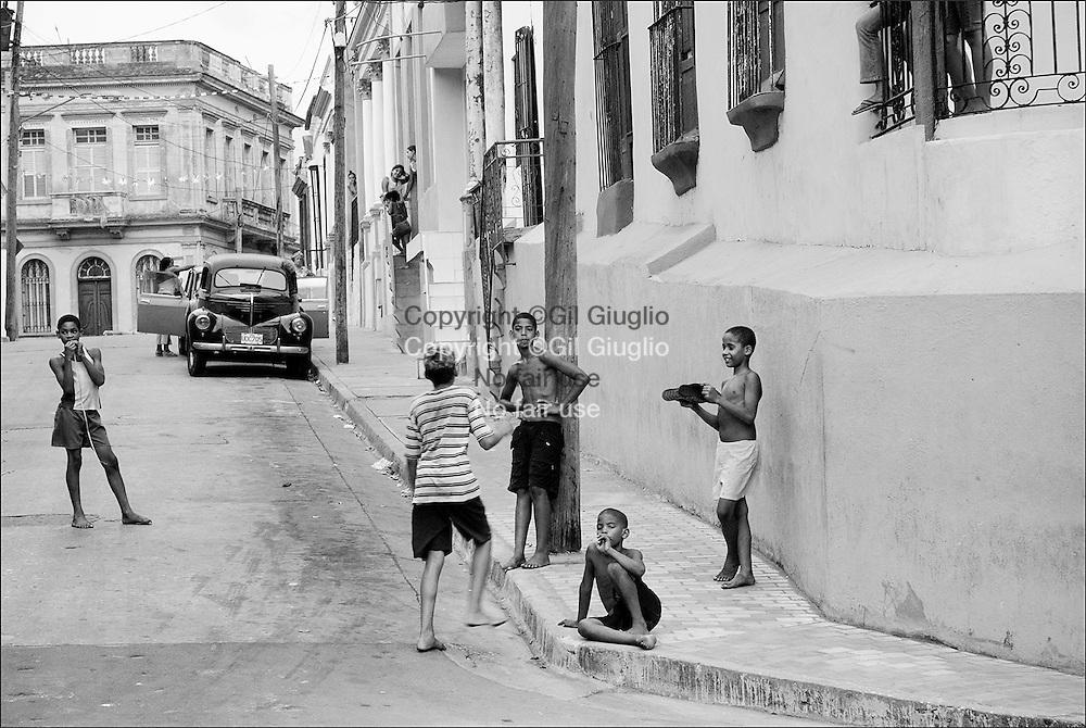 Cuba, Santiago de Cuba, province de l'Oriental, centre vieille ville historique // Cuba , Santiago de Cuba , Oriente province ,  old historic city center