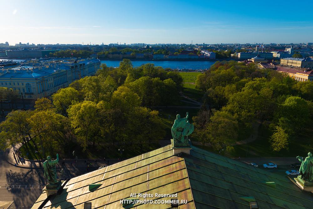 Neva River And Alexander Garden, St Petersburg