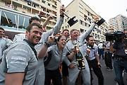 May 25, 2014: Monaco Grand Prix: Mercedes F1 team celebrates
