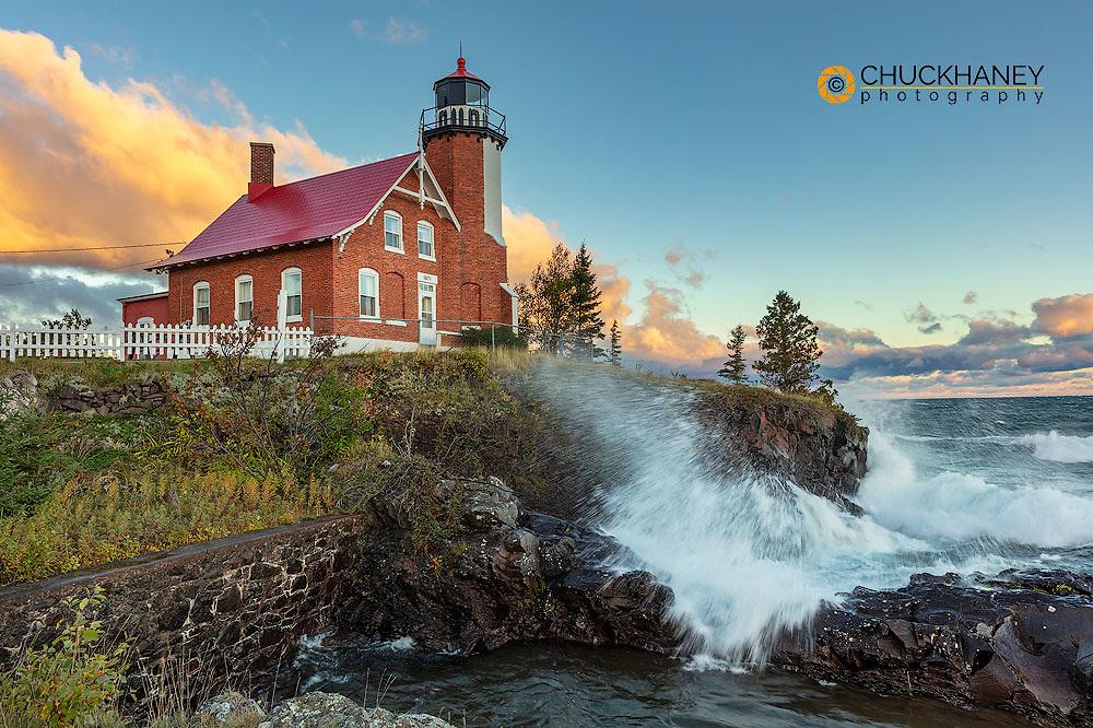 Historic Eagle Harbor Lighthouse n the Upper Peninsula of Michigan, USA