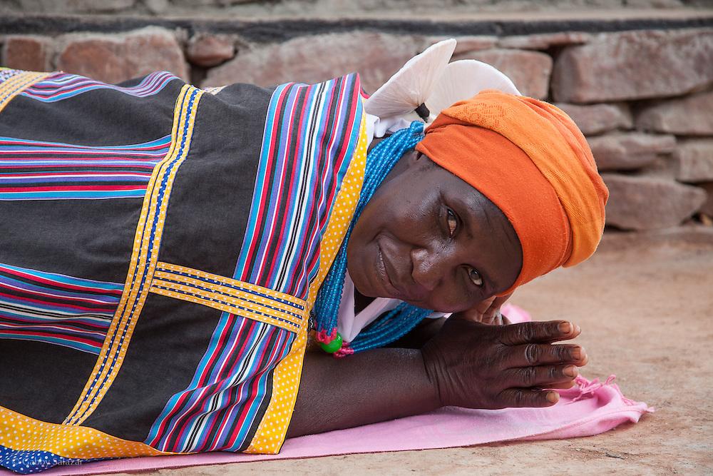 Venda ladies. Hamakuya. Venda village in Limpopo Province, South Africa.
