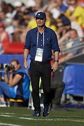 June 29, 2019 - Rennes, France - Peter Gerhardsson head coach of Sweden during the 2019 FIFA Women's World Cup France Quarter Final match between Germany and Sweden at Roazhon Park on June 29, 2019 in Rennes, France. (Credit Image: © Jose Breton/NurPhoto via ZUMA Press)
