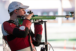 14.08.2016, Olympic Shooting Center, Rio de Janeiro, BRA, Rio 2016, Olympische Sommerspiele, Schiessen, Herren, Dreistellungskampf, 50m, im Bild Andre Link (GER) // Andre Link of Germany during the Mens 50 meter rifle three positions Sooting of the Rio 2016 Olympic Summer Games at the Olympic Shooting Center in Rio de Janeiro, Brazil on 2016/08/14. EXPA Pictures © 2016, PhotoCredit: EXPA/ Johann Groder