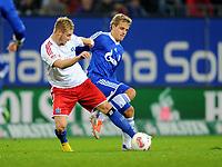v.l. Maximilian Beister (HSV), Teemu Pukki<br /> Fussball Bundesliga, Hamburger SV - FC Schalke 04<br /> Norway only