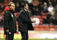 Photo: Paul Greenwood/Sportsbeat Images.<br />Stoke City v Norwich City. Coca Cola Championship. 01/12/2007.<br />Reaction from Norwich manager Glen Roeder