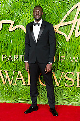 © Licensed to London News Pictures. 04/12/2017. London, UK STORMZY arrives for The Fashion Awards 2017 held at the Royal Albert Hall. Photo credit: Ray Tang/LNP