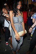 l to r: Angela Simmons and Vanessa Simmons at Vanessa Simmons' Birthday Celebration held at Su Casa on August 7, 2009 in New York City