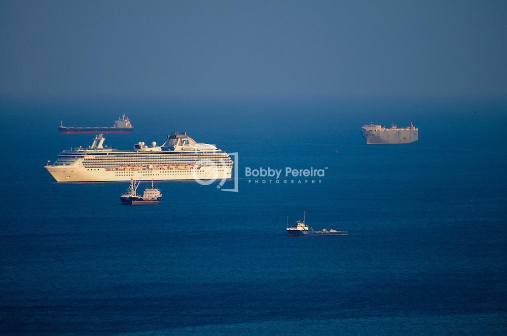 Cruise Ship near the Causeway in Panama.