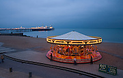 Limited Editions of 17<br /> Brighton England Beach Front Carousel <br /> 2 of 3 in Series