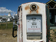 © 2008 Randy Vanderveen, all rights reserved.near Bezanson, Alberta.Kleskun Hills Park.The price on an old gas pump stands in stark contrast to the prices motorists are paying now.