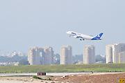 Israel, Ben-Gurion international Airport An MNG Cargo jet after takeoff