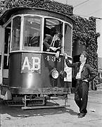 Y-480630A-01.  Last Alberta Car operator, new Alberta Bus operator. 900 buses, July 30, 1948