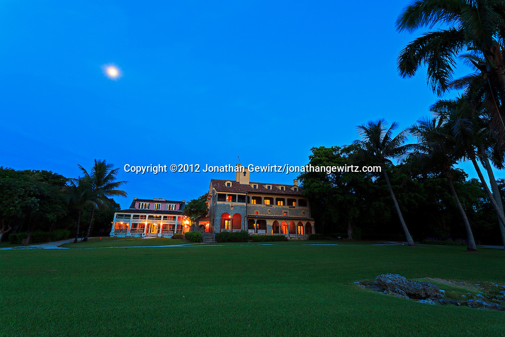 Pre-dawn view of the Charles Deering Estate at Cutler, Miami, Florida. WATERMARKS WILL NOT APPEAR ON PRINTS OR LICENSED IMAGES.