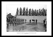 President John F. Kennedy laying a wreath on the graves of the Leaders of the 1916 Rising at Arbour Hill in Dublin.<br /> <br /> 28th June 1963