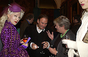 `Pinkietessa, ' James Birch and Lynn Barber. Grayson Perry by Wendy Jones launch party. Leighton House. Holland Park. London. 17 January 2006. January 2006.  ONE TIME USE ONLY - DO NOT ARCHIVE  © Copyright Photograph by Dafydd Jones 66 Stockwell Park Rd. London SW9 0DA Tel 020 7733 0108 www.dafjones.com
