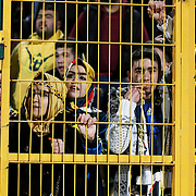 Fenerbahce's supporters during the Turkish soccer super league match Bursaspor between Fenerbahce at the Ataturk Stadium in Bursa Turkey on Monday, 24 November 2014. Photo by Aykut AKICI/TURKPIX