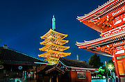 Sensoji  (Asakusa, Kannon)Temple, Tokyo, Japan. Senso-ji Temple, also known as Asakusa Kannon Temple, is the oldest and most popular temple in Tokyo. It is a Buddhist temple and the main residing deity is Bodhisattva Kannon, the Goddess of Mercy.