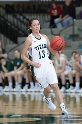 12 December 2015:  Brittney Reaber during an NCAA women's basketball game between the Wisconsin Stevens Point Pointers and the Illinois Wesleyan Titans in Shirk Center, Bloomington IL