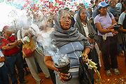 Inhabitants of indigenous communities gather in the highest mountains and in springs to celebrate rain request rituals.