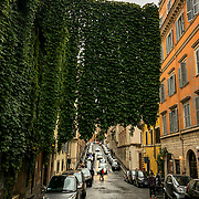 Street life in Rome, Italy on a early Fall day.