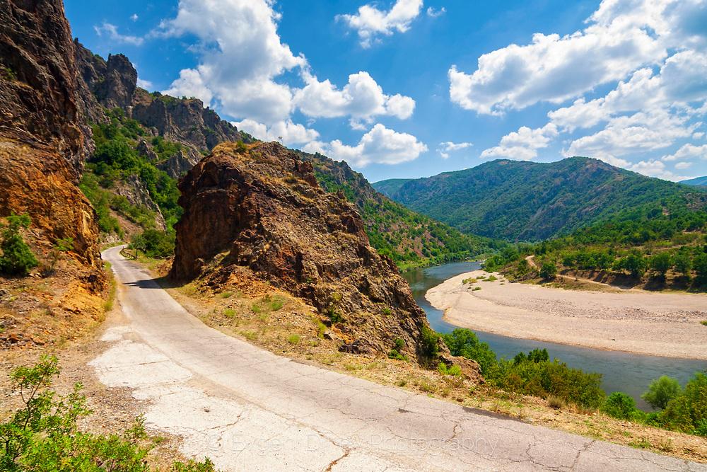 Arda river in East Rhodope Mountain