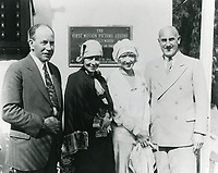 1928 (L to R) David Horsley, Mrs. Horsley, Mrs. Charles Christie & Al Christie at Christie Studios