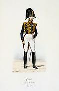 Commander of the Batallion of Engineers, 1814-1830. From 'Histoire de la maison militaire du Roi de 1814 a 1830' by Eugene Titeux, Paris, 1890.