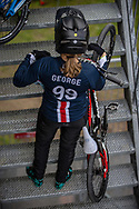 #99 (GEORGE Danielle) USA during practice at Round 3 of the 2019 UCI BMX Supercross World Cup in Papendal, The Netherlands