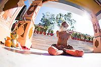 105 Years old Swami Yogananda at Paramath Niketan Ashram, Rishikesh - India