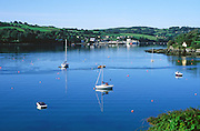 Yachts and pleasure boats in the harbour at Union Hall, County Cork, Ireland