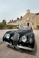 Hatfields Jaguar Ride and Drive event at the Cavendish Hotel Baslow Derbyshire Hatfields Peter Twyfords original XK which was originally  sold by Hatfields in the 1950's..5th May 2011.Images © Paul David Drabble