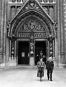 01/02/1957<br /> 02/01/1957<br /> 01 February 1957<br /> Entrance to St Colman's Cathedral, Cobh, Co. Cork.