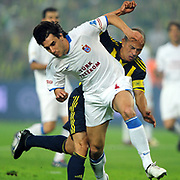 Fenerbahce's Alexsandro de SOUZA (B) and Trabzonspor's Gustavo COLMAN (F) during their Turkish superleague soccer derby match Fenerbahce between Trabzonspor at the Sukru Saracaoglu stadium in Istanbul Turkey on Sunday 16 May 2010. Photo by TURKPIX