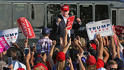 Republican presidential candidate Donald Trump greets supporters during a campaign rally at the Central Florida Fairgrounds in Orlando, FL, USA, on Wednesday, November 2, 2016. Photo by Red Huber/Orlando Sentinel/TNS/ABACAPRESS.COM