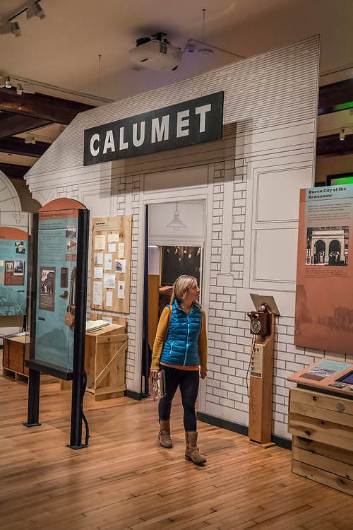 The Calumet Visitor Center of the Keweenaw National Historic Park in Calumet Michigan.