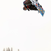 US Snowboarding Team member Shaun White puts in a a Gold medal performance in the half pipe during finals at the 2009 LG Snowboard FIS World Cup at Cypress Mountain, British Columbia, on February 16th, 2009..